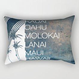 Hawaiian Islands Rectangular Pillow