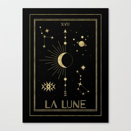 The Moon or La Lune Gold Edition Leinwanddruck