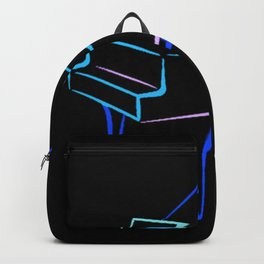 Blue Abstract Grand Piano Backpack