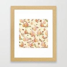 Copper Pears Framed Art Print