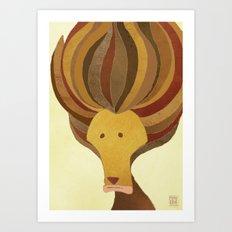 Bad Hair Day Art Print
