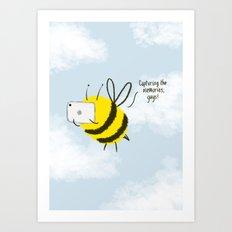 Festival Bees  Art Print
