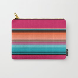 Traditional Mexican Serape in Teal Carry-All Pouch