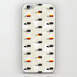 Pucks & Geometries #society6 #hockey #sport iPhone Skin