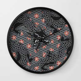 Hidden Dragon / Oriental dragon design Wall Clock