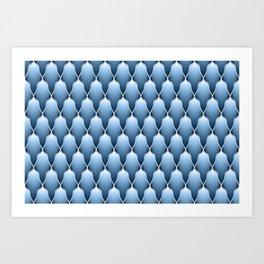 Blue Sky Scallops Art Print