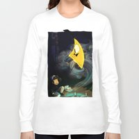 bill cipher Long Sleeve T-shirts featuring Gravity Falls- Dipper Pines And Bill Cipher by merrigel