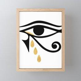 ALL SEEING CRY - Eye of Horus Framed Mini Art Print
