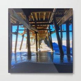 'Under The Pier' Metal Print