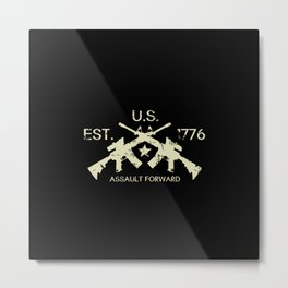M4 Assault Rifles - U.S. Est. 1776 Metal Print