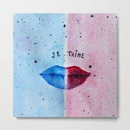 """Je T'aime"" (I love you) - Original Artwork by DGS Metal Print"