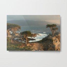 Monterey Coast at Sunset Metal Print