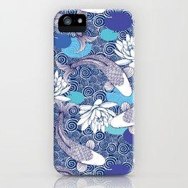 Blue Koi Ripples iPhone Case