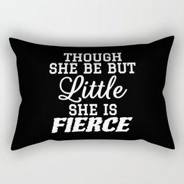 Little & Fierce (Black & White) Rectangular Pillow