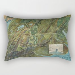 Vintage Map of the Bronx NY (1915) Rectangular Pillow