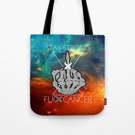 Fuck Cancer - Brain Cancer - Skull Hand  Tote Bag