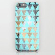 Turquoise Triangles  iPhone 6s Slim Case