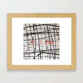 Best foot forward - Let it snow Framed Art Print