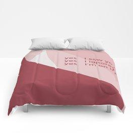 yes I did Comforters