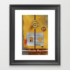 Double Tap Framed Art Print