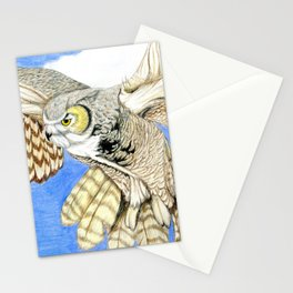 Owl Landing Stationery Cards