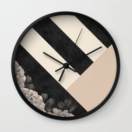 Flowers in sunlight Wall Clock