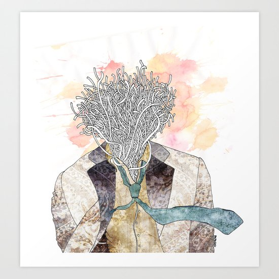 The one with head Art Print