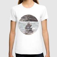 allyson johnson T-shirts featuring Johnson Canyon Inukshuk by RMK Creative