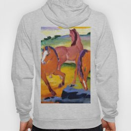 """Franz Marc """"Grazing Horses IV (The Red Horses)"""" Hoody"""