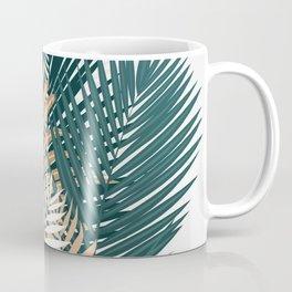 Gold and Green Palm Leaves Coffee Mug