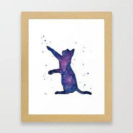 Galactic Cat Framed Art Print
