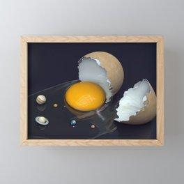 Space Uncracked Framed Mini Art Print