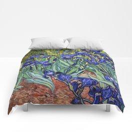 Irises by Vincent van Gogh Comforters