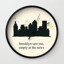 Harry Styles Ever Since New York illustration Wall Clock
