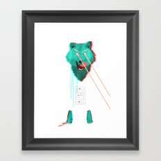 Wolf With F**king lasers Framed Art Print