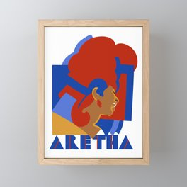 ARETHA Framed Mini Art Print