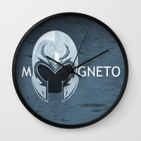 magneto Wall Clocks featuring Magneto by Tony Vazquez