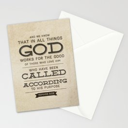 Romans 8:28 Bible Verse Stationery Cards