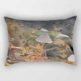 Painted Mycena in Forest Rectangular Pillow