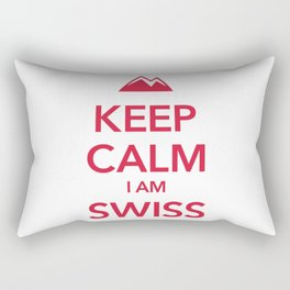 KEEP CALM I AM SWISS Rectangular Pillow