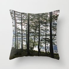Through the Forest Throw Pillow