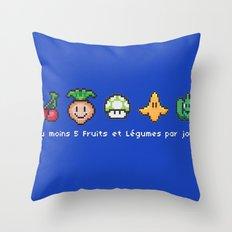Geek Food Throw Pillow