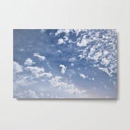 Scattered Clouds Metal Print