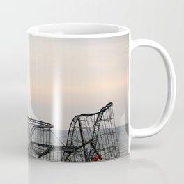 Jet Star Roller Coaster in Ocean After Hurricane Sandy Coffee Mug