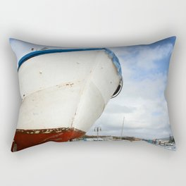 old fisherman's boat Rectangular Pillow
