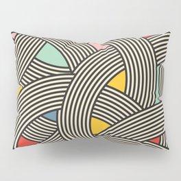 Modern Scandinavian Multi Colour Color Curve Graphic Pillow Sham