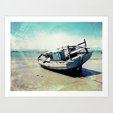 Waiting for the tide to change Art Print