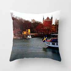 Stockholm, Sweden  Throw Pillow