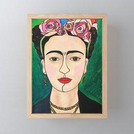 Frida Khalo Portrait Framed Mini Art Print