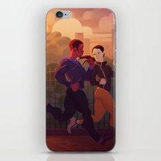 Running buddies iPhone & iPod Skin